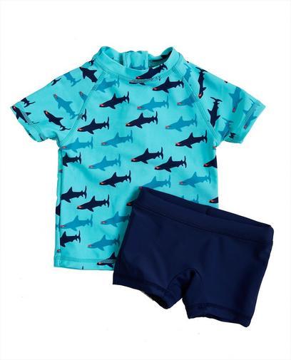 Blauwe zwemset